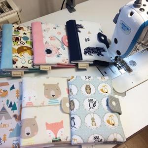 Egészségügyi kis könyv borító-madárkák  (aprotextil) - Meska.hu