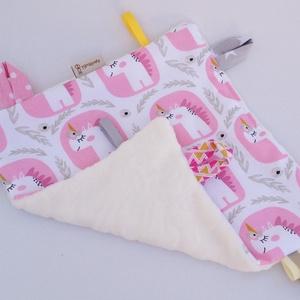 Unikornis-játszókendő kisbabáknak!   (aprotextil) - Meska.hu