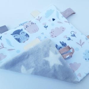 Alvókendő, játszókendő kisbabáknak! - baglyok (aprotextil) - Meska.hu