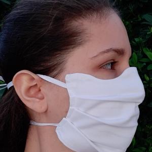 Egészségügyi arcmaszk-fehér-100%-os pamutvászon (aprotextil) - Meska.hu