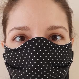 Egészségügyi arcmaszk-fehér-100%-os pamutvászon, NoWaste, Gyerek & játék, Textilek, Kendő, Varrás, 100%-os pamutvászonból, arcformára illeszkedő szabásmintával készült egészségügyi arcmaszk. Dupla r..., Meska