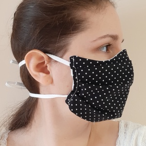 Egészségügyi arcmaszk-fehér-100%-os pamutvászon, NoWaste, Gyerek & játék, Textilek, Kendő, 100%-os pamutvászonból, arcformára illeszkedő szabásmintával készült egészségügyi arcmaszk. Dupla ré..., Meska