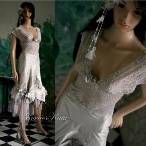 GRÉTA - designruha, Esküvő, Táska, Divat & Szépség, Esküvői ruha, Ruha, divat, Menyasszonyi ruha, ALTERNATÍV MENYASSZONYI RUHA IS LEHET!  Ha formabontó, nem a megszokott fehér esküvői ruhára vágysz,..., Meska