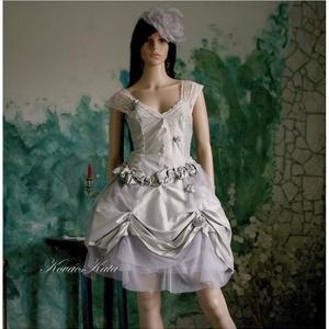 HILARY - rokokó menyasszonyi ruha, Esküvő, Táska, Divat & Szépség, Menyasszonyi ruha, Esküvői ruha, Ruha, divat, Alternatív menyasszonyi- vagy báli ruha is lehet ez a dúsan díszített hernyóselyemből készült tüllös..., Meska