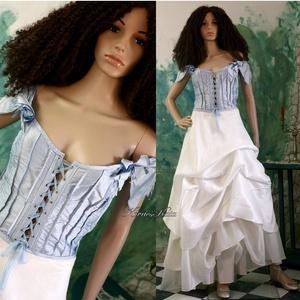 MARY-JANE - menyasszonyi ruha, Esküvő, Menyasszonyi ruha, Ruha, Extravagáns modellemet a formabontóan-romantikus megjelenés követőinek ajánlom:  - Hernyóselyem-shan..., Meska
