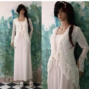 RHEIA - menyasszonyi ruha, Menyasszonyi ruha, Ruha, Esküvő, Varrás, Természetes anyagokból készült modellem korhatár nélkül ajánlom.\n\nA két-részes alapja egy finom lenv..., Meska