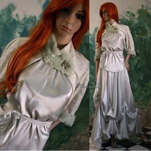 JULIETTA  menyasszony, Esküvő, Táska, Divat & Szépség, Menyasszonyi ruha, Esküvői ruha, Ruha, divat, Különlegesen szép pasztell-színű,lágy-esésű krepp-szaténból terveztem ezt a kétrészes ruhát.  Hozzá ..., Meska