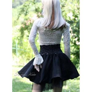 BALERINA - lolita- design-szoknya, Női ruha, Ruha & Divat, Alkalmi ruha & Estélyi ruha, Varrás, Látványosan nőies:\nLuxusminőségű jacquard hernyóselyemből készült körgloknis szoknya elasztikus csip..., Meska