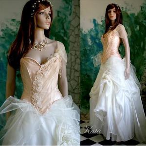 MELBA - menyasszonyi ruha (Aranybrokat) - Meska.hu