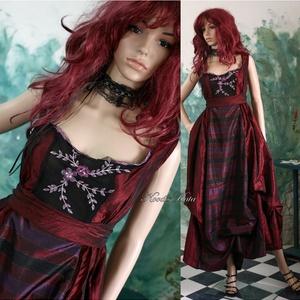 """ROMOLA - nagyestélyi XL, Alkalmi ruha & Estélyi ruha, Női ruha, Ruha & Divat, Varrás, Különleges báli-ruha taftselymekből és hímzett csipkéből \""""megálmodva\"""".\n\nMérete: 46-48\nEgyedi darab!\n..., Meska"""