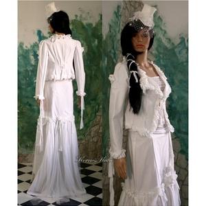 FANNI - esküvői vászon-kosztüm (Aranybrokat) - Meska.hu