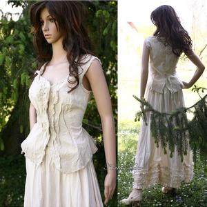MILLENIUM - romantikus design-ruha (Aranybrokat) - Meska.hu