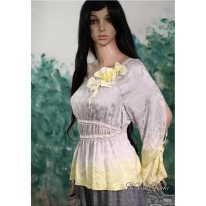 RENESZANSZ - exkluzív art to wear 100% selyemblúz (Aranybrokat) - Meska.hu