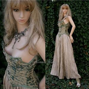 BOROSTYÁN-LADY - nagyestélyi  vagy örömanya-ruha , Táska, Divat & Szépség, Esküvői ruha, Ruha, divat, Női ruha, Estélyi ruha, Varrás, Különleges XVIII. századi stílusú fűző exkluzív angol bútorszövetből készült, erősen merevítve.\nHátu..., Meska