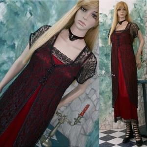 CATHY - exkluzív selyemruha csipkekabátkával, Női ruha, Ruha & Divat, Alkalmi ruha & Estélyi ruha, Varrás, Különleges, szecessziós-stílusú selyem + csipke öltözetem a haute-couture szerelmeseinek ajánlom.\n\nM..., Meska