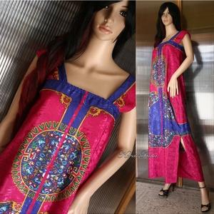 ANONIMA - exkluzív selyemruha, Női ruha, Ruha & Divat, Alkalmi ruha & Estélyi ruha, Varrás, Látványos, Versace-mintás, habkönnyű jacquard-selyemből terveztem ezt az extravagáns hosszú-ruhát.\n\n..., Meska