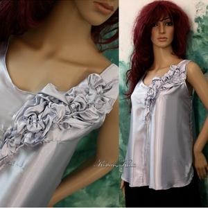 LIA  -  design selyemtop , Táska, Divat & Szépség, Esküvő, Női ruha, Ruha, divat, Blúz, Ha egy igazán különleges darabra vágysz:  Fehérnemű-finomságú szatén-kreppselyemből készült trikó-sz..., Meska