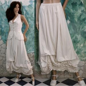 EMILY -romantikus kétrészes ruha, Táska, Divat & Szépség, Esküvő, Menyasszonyi ruha, Női ruha, Ruha, divat, Puhán-ívelt formák jellemzik ezt a romantikus összeállításom.  Mellény-blúz:  Klasszikus, karcsúsíto..., Meska