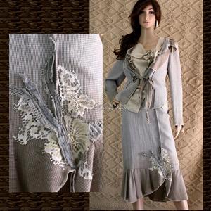 JUSZTINA - örömanya design kosztüm, Esküvő, Táska, Divat & Szépség, Női ruha, Ruha, divat, Kosztüm, Festett tárgyak, Varrás, Metál-szálas háromrészes öltözet:\n\nKülönleges fémszálas selyemből készítettem és kézzel foltocskásan..., Meska