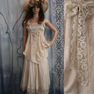 AUGUSZTA - nimfa-ruha  - art to wear lolita-ruha (Aranybrokat) - Meska.hu