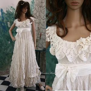 ZSÓKA - menyasszonyi tündér-ruha - alternatív esküvőre, Esküvő, Ruha, Menyasszonyi ruha, Vízparti esküvőkhöz, partikhoz ajánlom ezt a különleges, kreppelt-habos-rusztikus alternatív-menyass..., Meska