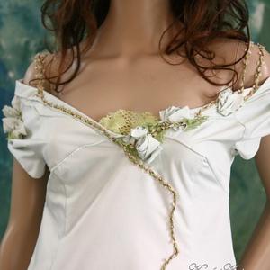 VERONIKA - menyasszonyi ruha (Aranybrokat) - Meska.hu
