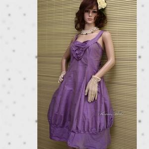LILA TULIPÁN - design-ruha XL, Női ruha, Ruha & Divat, Alkalmi ruha & Estélyi ruha, Varrás, Különleges, orgona-lila hernyóselyem- shantungból terveztem ezt a modellemet.\nKlasszikus princessz-s..., Meska