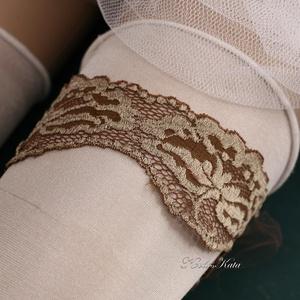 ANTIK - art to wear harisnyakötő (Aranybrokat) - Meska.hu