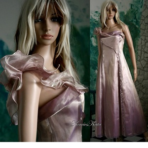 """THELMA - organza-ruha , Alkalmi ruha & Estélyi ruha, Női ruha, Ruha & Divat, Újrahasznosított alapanyagból készült termékek, Varrás, Egy antik-rózsaszínű vintage organza-ruha továbbgondolásából született \""""tündéri\"""" modellem.\n\nMérete: ..., Meska"""
