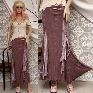 MÁLYVA bosziszoknya, Ruha & Divat, Női ruha, Alkalmi ruha & Estélyi ruha, Finom pasztell árnyalatú, pliszés plüssből terveztem ezt a romantikus modellemet. Betétek, vízesés-f..., Meska