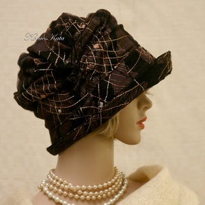 ERNA / orient - design flapper kalap (Aranybrokat) - Meska.hu