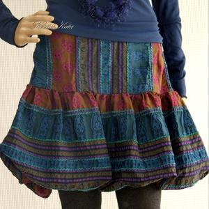 """BUBORÉK - exkluzív design-szoknya, Táska, Divat & Szépség, Ruha, divat, Női ruha, Estélyi ruha, Szoknya, Varrás, Luxusminőségű, márkás, etno-mintás-szalagos jacquard hernyóselyemből készült rövid szoknyácska.\nA \""""b..., Meska"""
