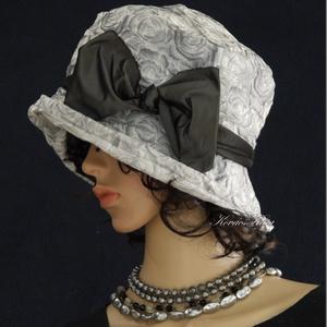 K I E G É S Z Í T Ő K ...... DOMBOR-RÓZSÁS szürke taft-kalap FRIDA, Ruha & Divat, Kalap, Sál, Sapka, Kendő, Az egyedi kalapok szerelmeseinek ajánlom ezt az 1920-as évek stílusában tervezett  kalapocskám.  Kül..., Meska