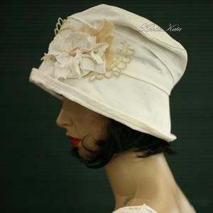 FRIDA - romantikus nyári kalap  (Aranybrokat) - Meska.hu