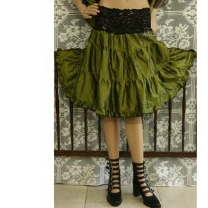 GLITTER-ROSE - romantikus selyemruha taft alsószoknyával - ruha & divat - női ruha - alkalmi ruha & estélyi ruha - Meska.hu