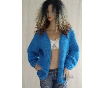 GRACE-SZVETTER - kézzel kötött exkluzív moher kardigán  - ruha & divat - női ruha - pulóver & kardigán - Meska.hu