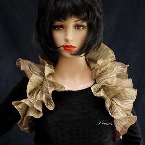 WRAP / exkluzív - organza vállkendő, boleró, Ruha & Divat, Női ruha, Alkalmi ruha & Estélyi ruha, Varrás, Elegáns öltözék-kiegészítő különleges alkalmakra:\n\nCsodaszép indiai szári-anyagból: gyűrt, metál-szá..., Meska