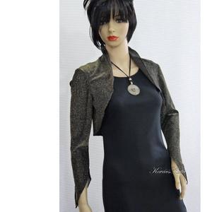 LUREX-boleró, Táska, Divat & Szépség, Ruha, divat, Női ruha, Estélyi ruha, Kabát, Varrás, Egyszerű, pántos ruha különleges kiegészítője lehet ez a boleró, amit vintage lurex-jersey-ből készí..., Meska