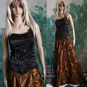 ZINNIA - háromrészes estélyi ruha  XL-design , Ruha & Divat, Alkalmi ruha & Estélyi ruha, Női ruha, Nagyvonalú, extravagáns estélyi-kreáció olyan Nőnek, aki különbözni szeretne...  Vörösréz színű desi..., Meska