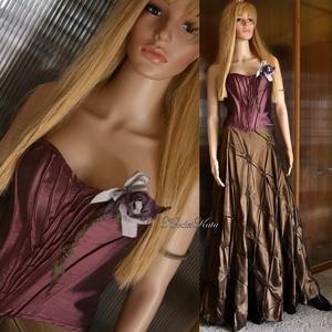 ORCHIDEA - fűzős nagyestélyi-ruha, Alkalmi ruha & Estélyi ruha, Női ruha, Ruha & Divat, Varrás, Különleges hangulatú kétrészes modellem a romantika jegyében:\n\nMályva színű halcsontos fűző szív kiv..., Meska