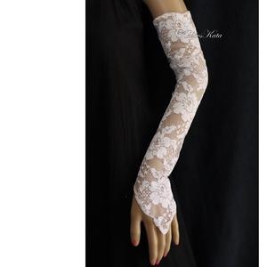 LA-PERLA - exkluzív menyasszonyi csipkekesztyű - esküvő - ruha - menyasszonyi ruha - Meska.hu