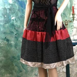 TARANTELLA - alkalmi selyem patchwork szoknya, Női ruha, Ruha & Divat, Alkalmi ruha & Estélyi ruha, Varrás, A nőies megjelenéshez:\nSelymek, muszlinok felhasználásával készült látványos alkalmi szoknya, kényel..., Meska