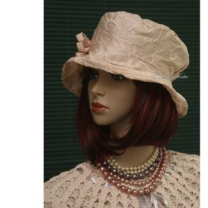 ESTELLA - luxus-selyem kalap (Aranybrokat) - Meska.hu