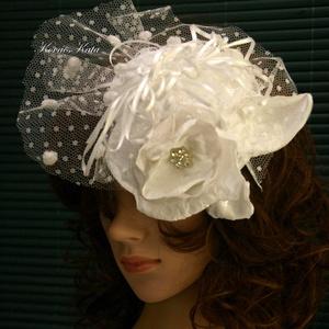 K I E G É S Z Í T Ő K  ......  FASCINATOR  - PIN-UP esküvői kalapka , Táska, Divat & Szépség, Esküvő, Hajdísz, ruhadísz, Menyasszonyi ruha, Hófehér cukiság:  egyedi koktél-kalapka menyasszonyoknak sok-sok kézimunkával és szeretettel...  Kön..., Meska