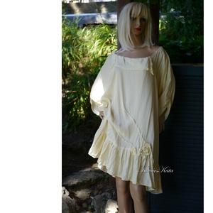 GINA - viszkóz-selyem flapper ruha, tunika-ruha, Ruha & Divat, Női ruha, Alkalmi ruha & Estélyi ruha, Varrás, Meska