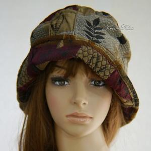 FRIDA CLOCHE - exkluzív hernyóselyem brokát design kalap, Táska, Divat & Szépség, Ruha, divat, Sál, sapka, kesztyű, Sapka, Női ruha, Egy különleges kalapka a luxus-holmik kedvelőinek: Olasz designer hernyóselyem: patchwork-mintás, gy..., Meska