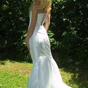 LÉDA - exkluzív fűzős menyasszonyi ruha - esküvő - ruha - menyasszonyi ruha - Meska.hu