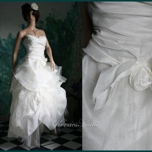 FRANCESCA - bohém menyasszonyi ruha (Aranybrokat) - Meska.hu