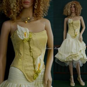 ARANY KÁLA  - artsy menyasszonyi ruha, estélyi ruha, Esküvő, Menyasszonyi ruha, Ruha, Varrás, Meska