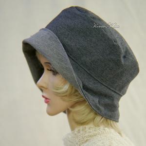 FRIDA cloche XL- design flapper-kalap / szürke  (Aranybrokat) - Meska.hu